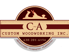 custom woodworking logos. c a custom woodworking inc. logos 0