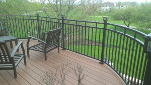 Arched deck boarder and railing